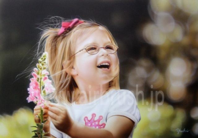 エアブラシアート メガネの女の子