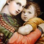エアブラシで描く名画 「小椅子の聖母」 その3