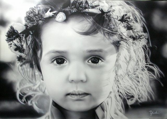 エアブラシ『可愛い女の子』